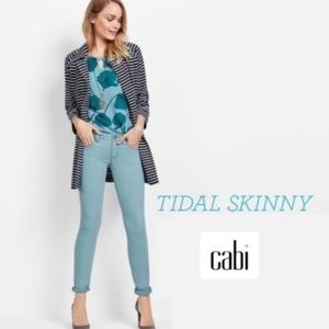 Cabi Tidal Skinny Jeans Style 5169, Teal, 14